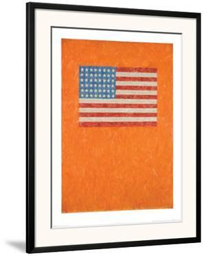 Flag on Orange Field by Johns