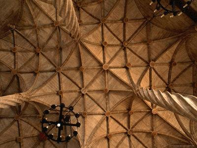 Ceiling Detail of 15th Century Lonja (Commodity and Silk Market), Valencia, Spain
