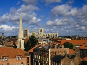 City Buildings with York Minster Cathedral in Background, York, United Kingdom by Johnson Dennis