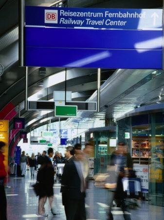 Railway Travel Center at Frankfurt Airport, Frankfurt-Am-Main, Hesse, Germany