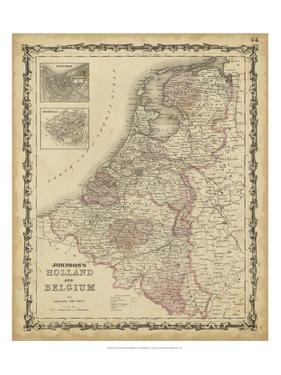 Johnson's Map of Holland & Belgium