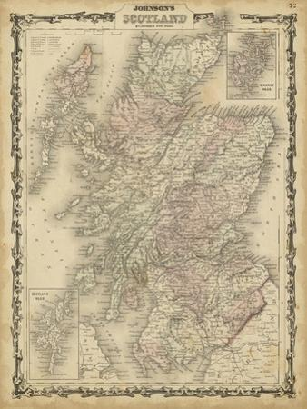 Johnson's Map of Scotland