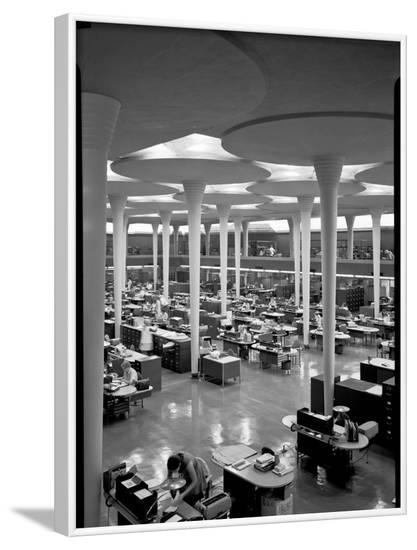 Johnson Wax Balcony, SW View--Framed Photographic Print