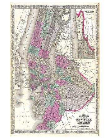 New York City & Brooklyn 1866