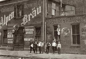 Johnston's Branch Newsies 1910 Archival Photo Poster Print