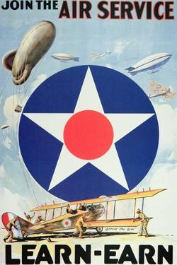 Join the Air Service'- American Recruiting Poster