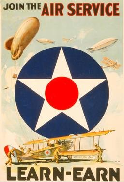 Join The Air Service Vintage Ad Poster Print