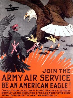 Join the Army Air Service War Eagle Poster