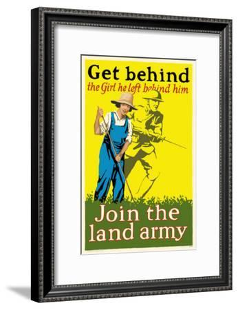 Join the Land Army--Framed Masterprint