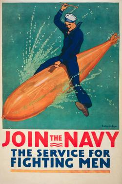 Join the Navy War Propaganda Vintage Ad