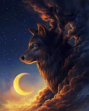 Golden Moon by JoJoesArt