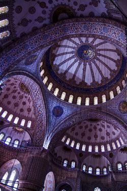 Istanbul, Turkey. Blue and gold leaf Byzantine domes of the Blue Mosque by Jolly Sienda