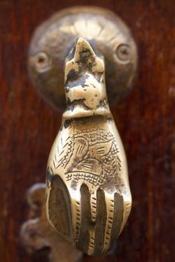 Marrakech, Morocco. Brass carved door knocker by Jolly Sienda
