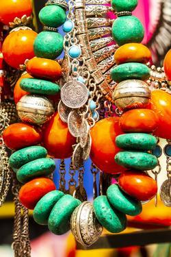 Marrakech, Morocco. Jewelry, turquoise, silver, amber by Jolly Sienda