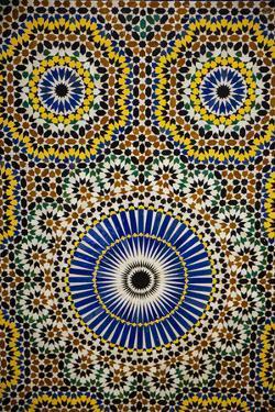 Marrakech, Morocco. Moroccan mosaic tile wall by Jolly Sienda