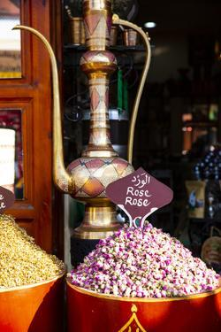 Marrakech, Morocco. Rose tea leaves and a brass teapot by Jolly Sienda