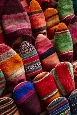 Marrakech, Morocco. Woven Moroccan slippers by Jolly Sienda