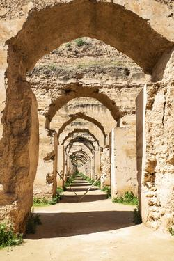 Meknes, Morocco. Stone archways at the Royal Stables by Jolly Sienda