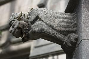 University of Washington, Seattle, Washington State. Architectural detail, gargoyle by Jolly Sienda