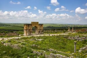 Volubilis, Morocco. Ancient Roman city, Arch of Caracalla by Jolly Sienda
