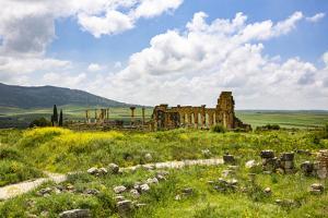 Volubilis, Morocco. Basilica and capitol Roman ruins, Volubilis by Jolly Sienda