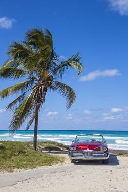1959 Dodge Custom Loyal Lancer Convertible, Playa Del Este, Havana, Cuba by Jon Arnold