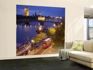 Big Ben, Houses of Parliament and River Thames, London, England by Jon Arnold