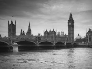 Big Ben, Houses of Parliament and Westminster Bridge, London, England, Uk by Jon Arnold
