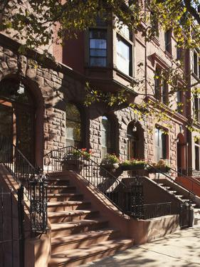 Brownstone Buildings in Harlem, Manhattan, New York City, USA by Jon Arnold