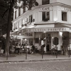 Cafe, Quai De L'Hotel De Ville, Marais District, Paris, France by Jon Arnold