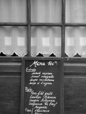 Cafe/Restaurant in the St. Germain Des Pres District, Rive Gauche, Paris, France by Jon Arnold