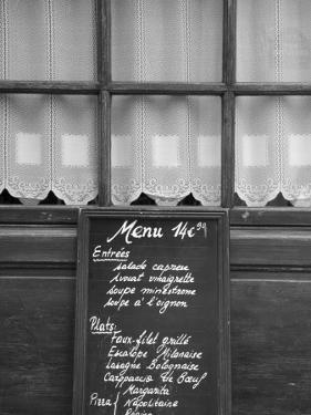 Cafe/Restaurant in the St. Germain Des Pres District, Rive Gauche, Paris, France by Jon Arnold