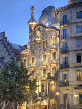 Casa Batllo (By Gaudi), Passeig De Gracia, Barcelona, Spain by Jon Arnold