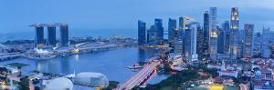 Central Business District and Marina Bay Sands Hotel, Singapore by Jon Arnold