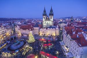 Christmas Market, Old Town Square, Prague, Czech Republic by Jon Arnold