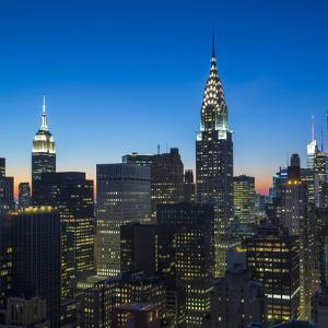 Chrysler Building and Empire State Building, Midtown Manhattan, New York City, New York, USA by Jon Arnold