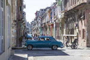 Classic 50s America Car in the Streets of Centro Habana, Havana, Cuba by Jon Arnold