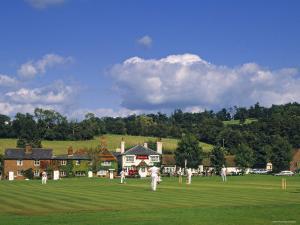 Cricket on Village Green, Surrey, England by Jon Arnold