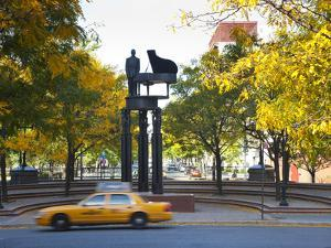 Duke Ellington Statue, Frawley Circle, Harlem, Manhattan, New York City, USA by Jon Arnold