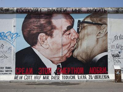 Eastside Gallery (Berlin Wall), Muhlenstrasse, Berlin, Germany by Jon Arnold