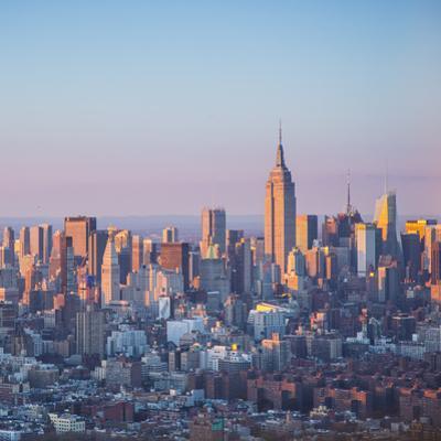 Empire State Building and Manhattan, New York City, New York, USA
