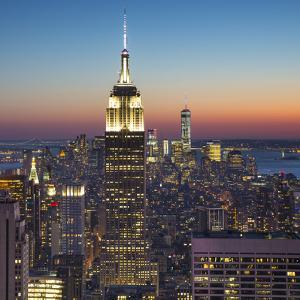 Empire State Building (One World Trade Center Behind), Manhattan, New York City, New York, USA by Jon Arnold