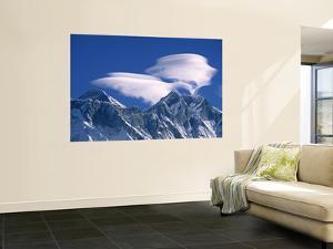 Everest and Lhotse, Nepal by Jon Arnold
