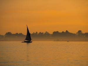 Felucca on River Nile, Luxor, Egypt by Jon Arnold