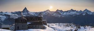 Gornergrat Kulm Hotel and Matterhorn, Zermatt, Valais, Switzerland by Jon Arnold