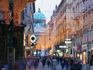 Hofburg and Kohlmarkt, Vienna, Austria by Jon Arnold