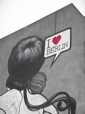 I Love Berlin' Mural on Building, Berlin, Germany by Jon Arnold