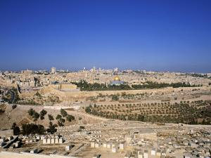 Jerusalem from Mt. of Olives, Israel by Jon Arnold