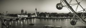 London Eye and Houses of Parliament, London, England, UK by Jon Arnold