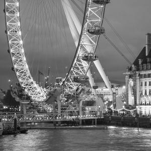 London Eye (Millennium Wheel) and Former County Hall, South Bank, London, England by Jon Arnold